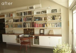 本棚,作り付け,イメージ